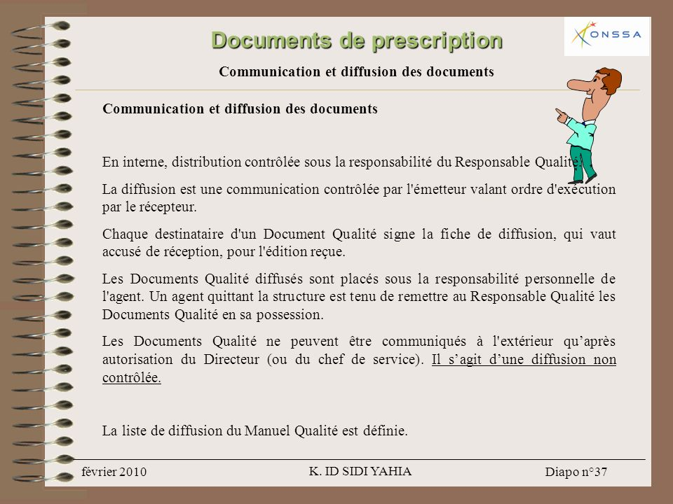 Documents de prescription Communication et diffusion des documents