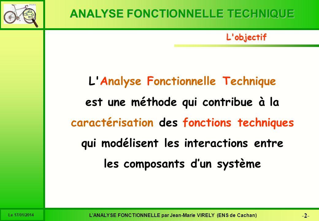 L Analyse Fonctionnelle Technique est une méthode qui contribue à la