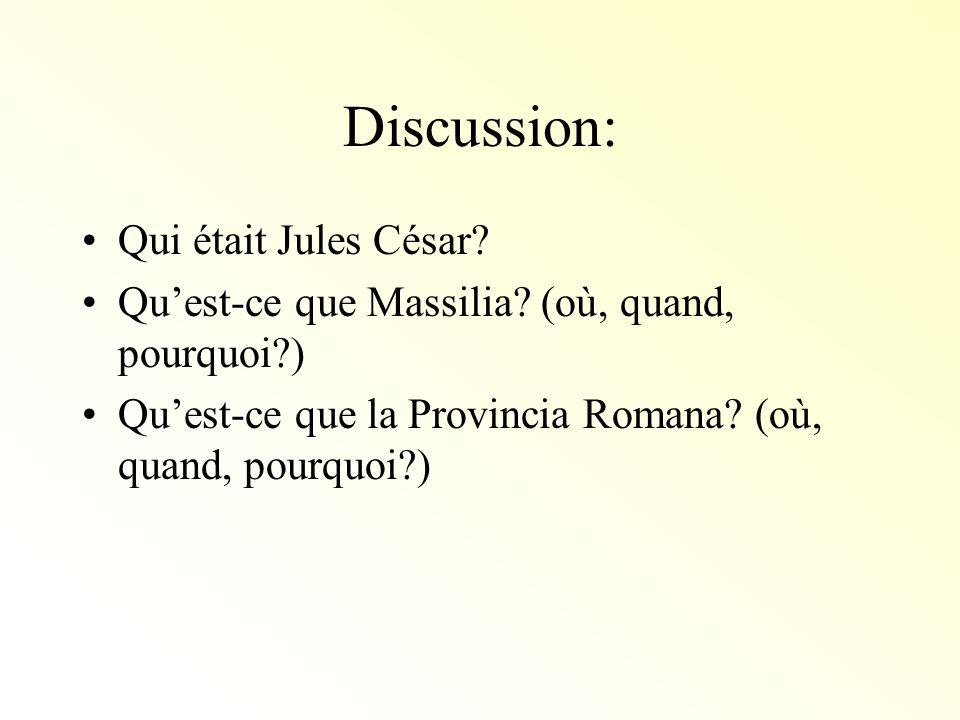 Discussion: Qui était Jules César