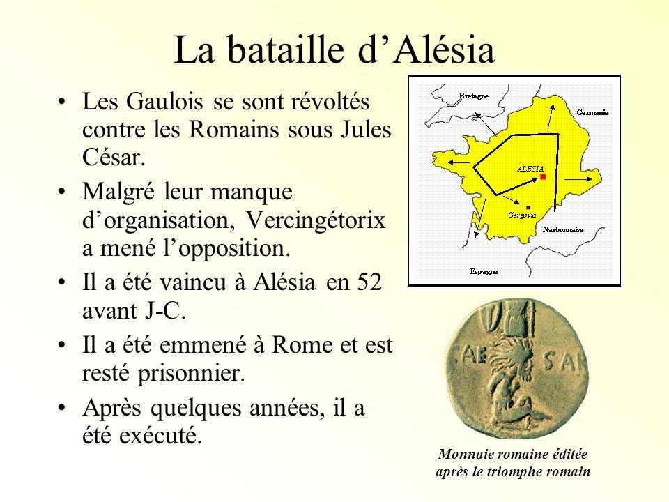 Monnaie romaine éditée après le triomphe romain