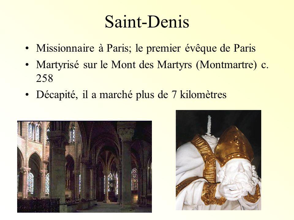 Saint-Denis Missionnaire à Paris; le premier évêque de Paris