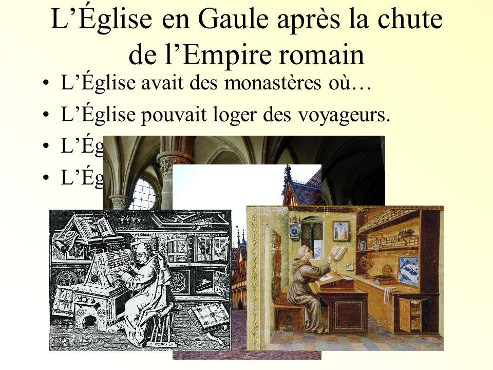 L'Église en Gaule après la chute de l'Empire romain