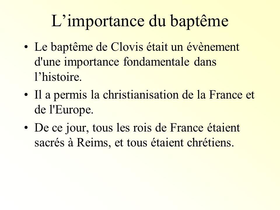 L'importance du baptême