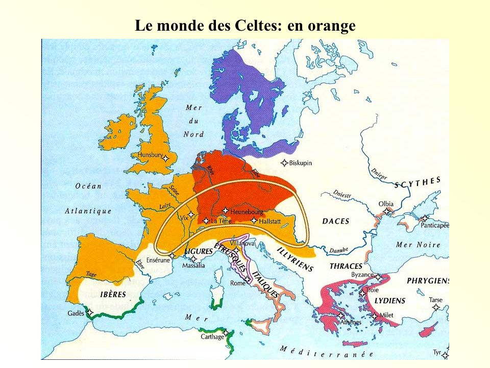 Le monde des Celtes: en orange