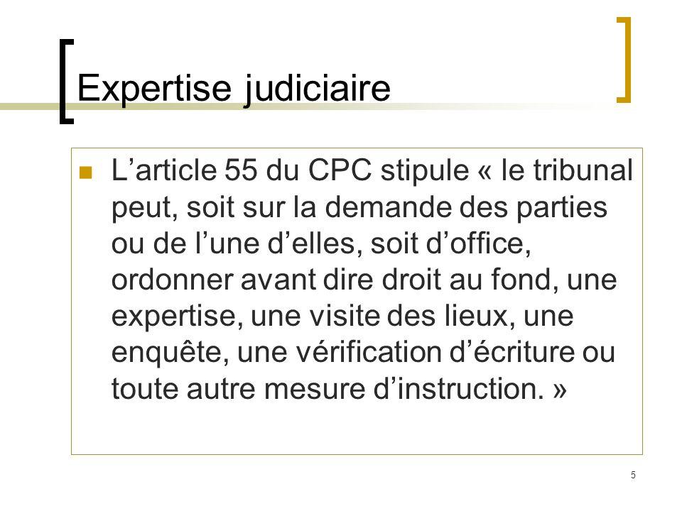 Expertise judiciaire