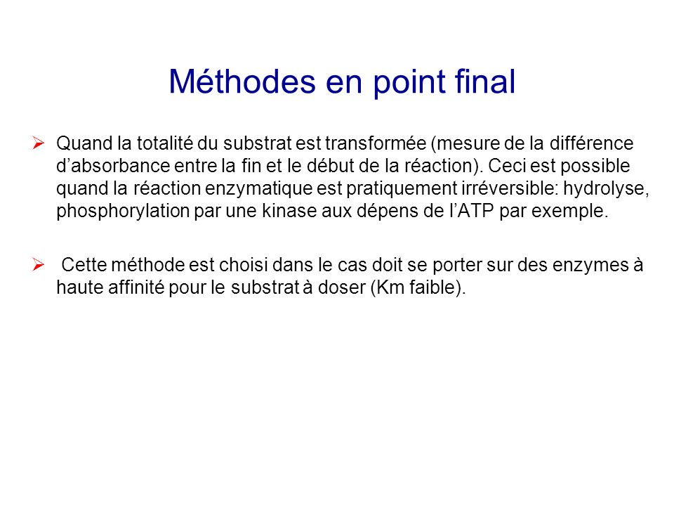 Méthodes en point final