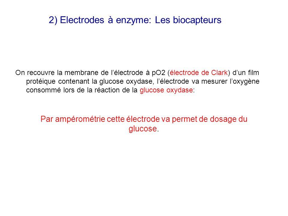 2) Electrodes à enzyme: Les biocapteurs