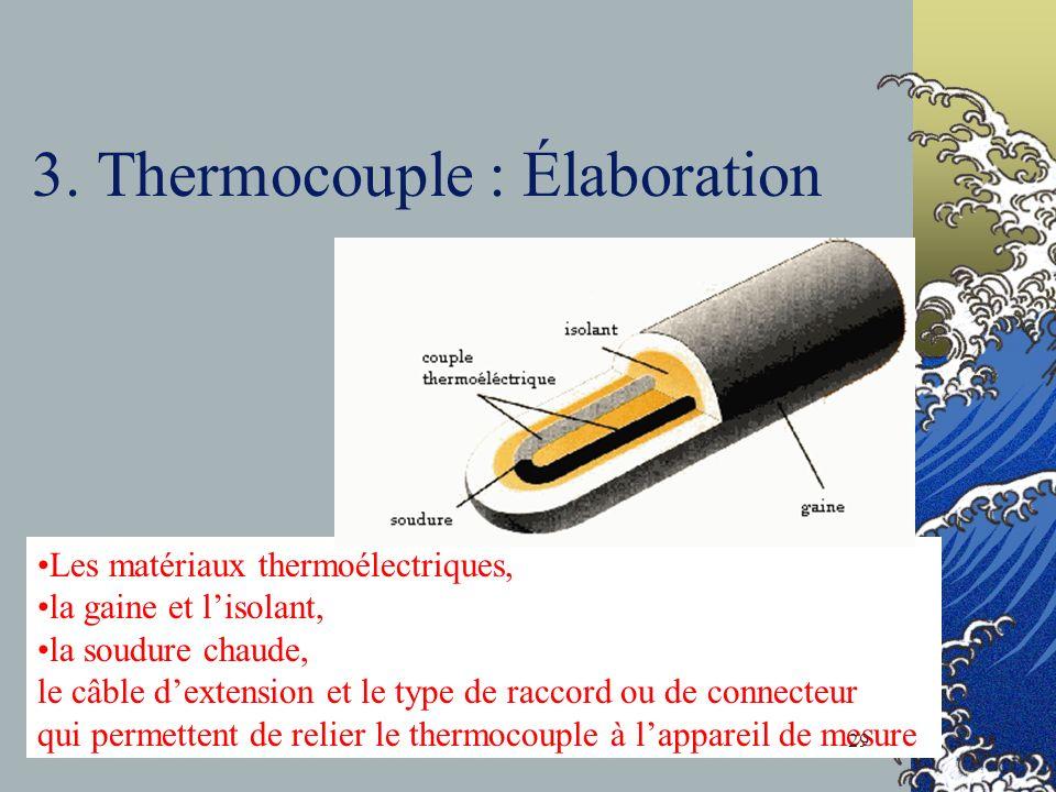 3. Thermocouple : Élaboration