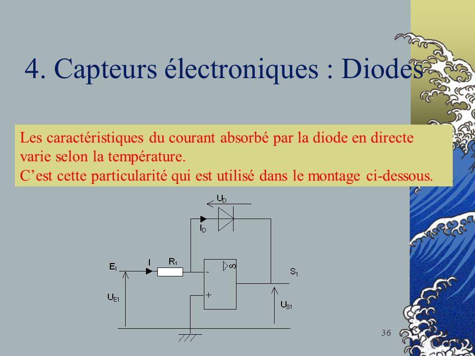 4. Capteurs électroniques : Diodes