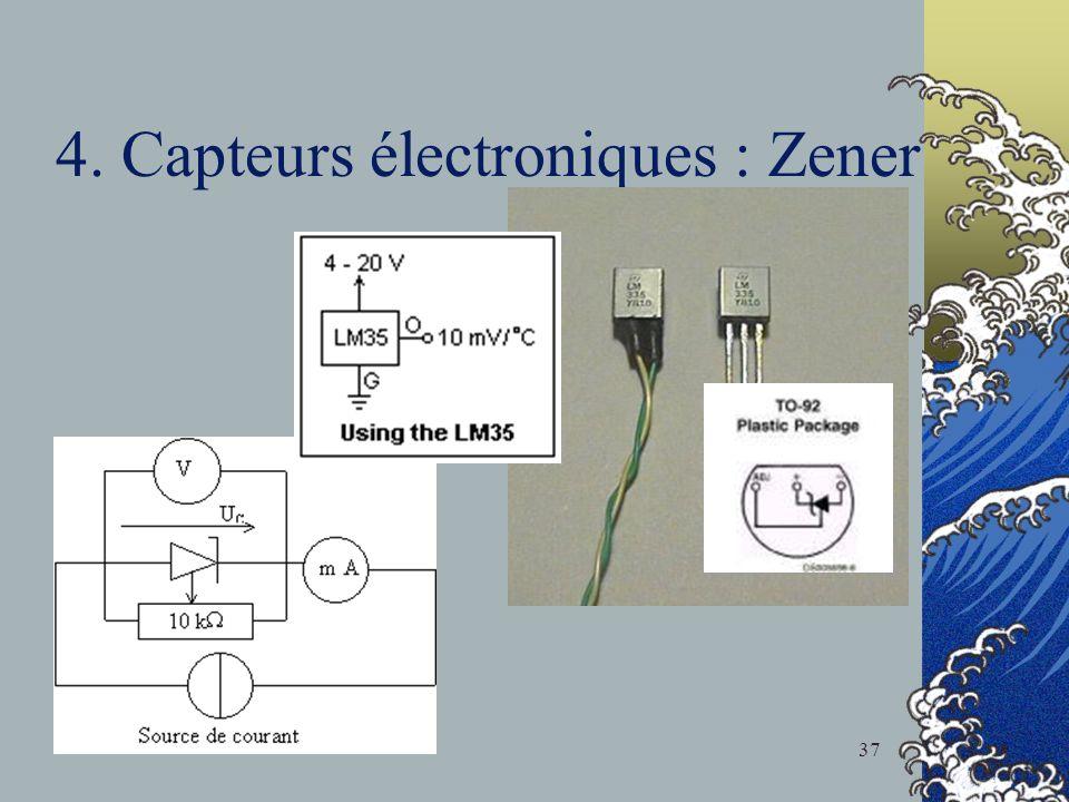 4. Capteurs électroniques : Zener
