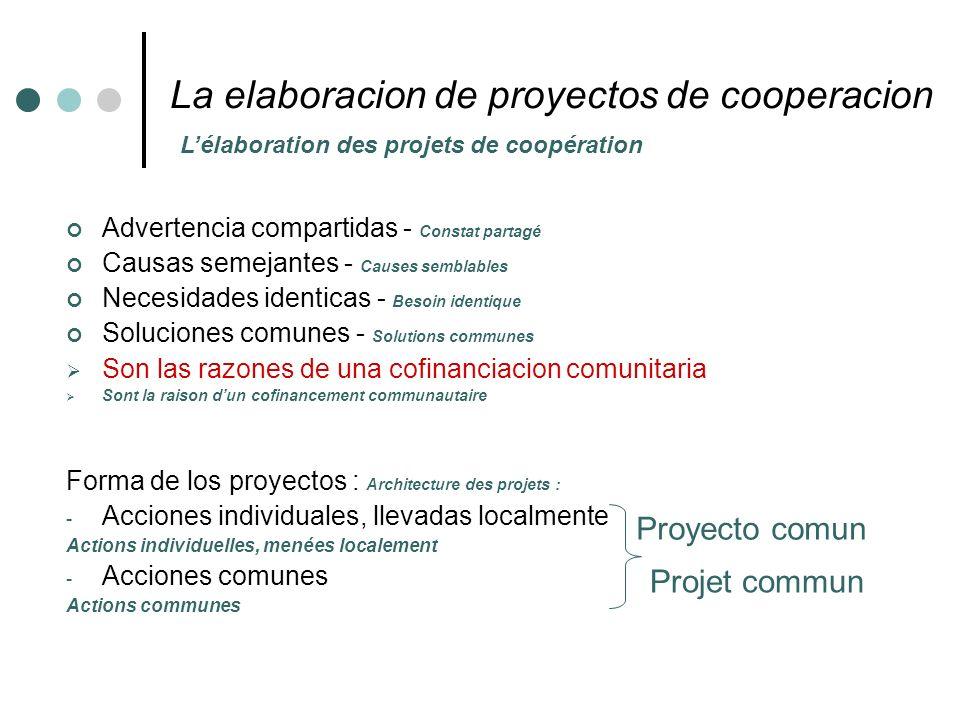 La elaboracion de proyectos de cooperacion