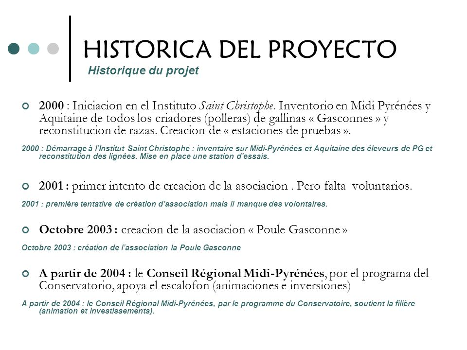 HISTORICA DEL PROYECTO