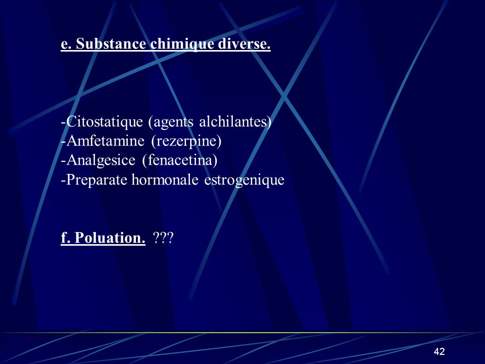 e. Substance chimique diverse.
