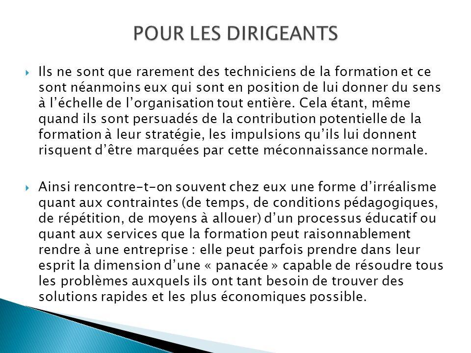 POUR LES DIRIGEANTS