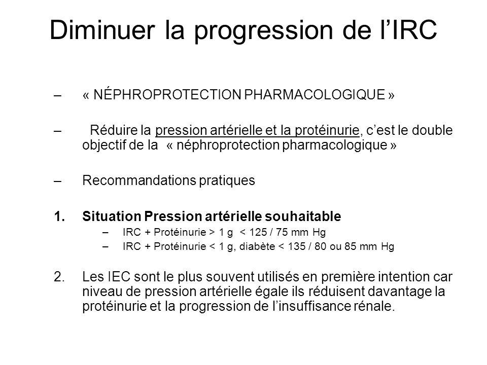 Diminuer la progression de l'IRC