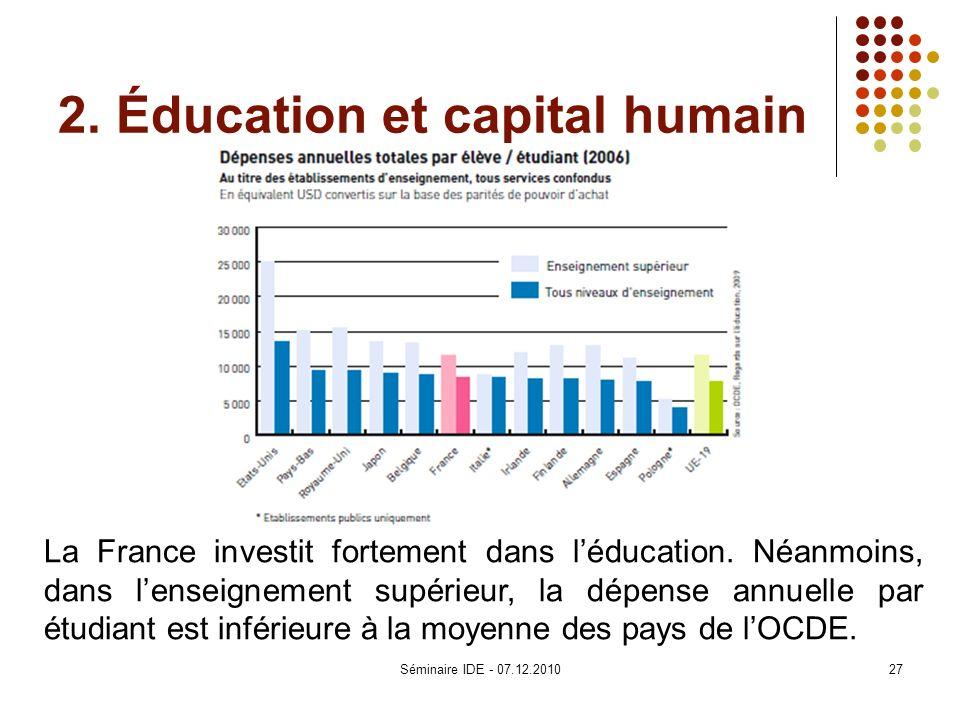 2. Éducation et capital humain