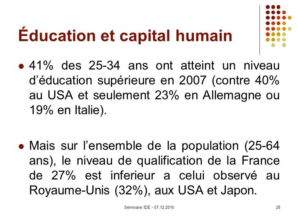 Éducation et capital humain