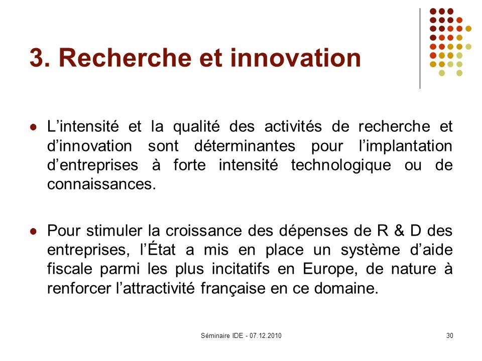 3. Recherche et innovation