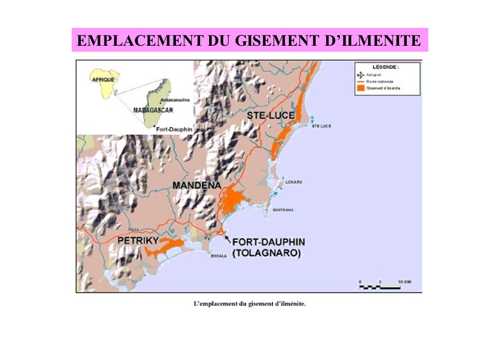 EMPLACEMENT DU GISEMENT D'ILMENITE