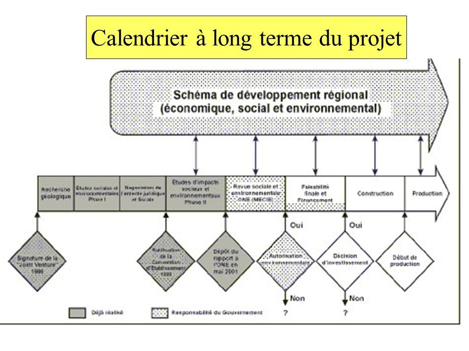 Calendrier à long terme du projet