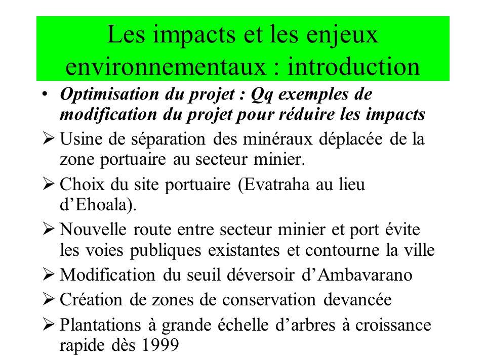 Les impacts et les enjeux environnementaux : introduction
