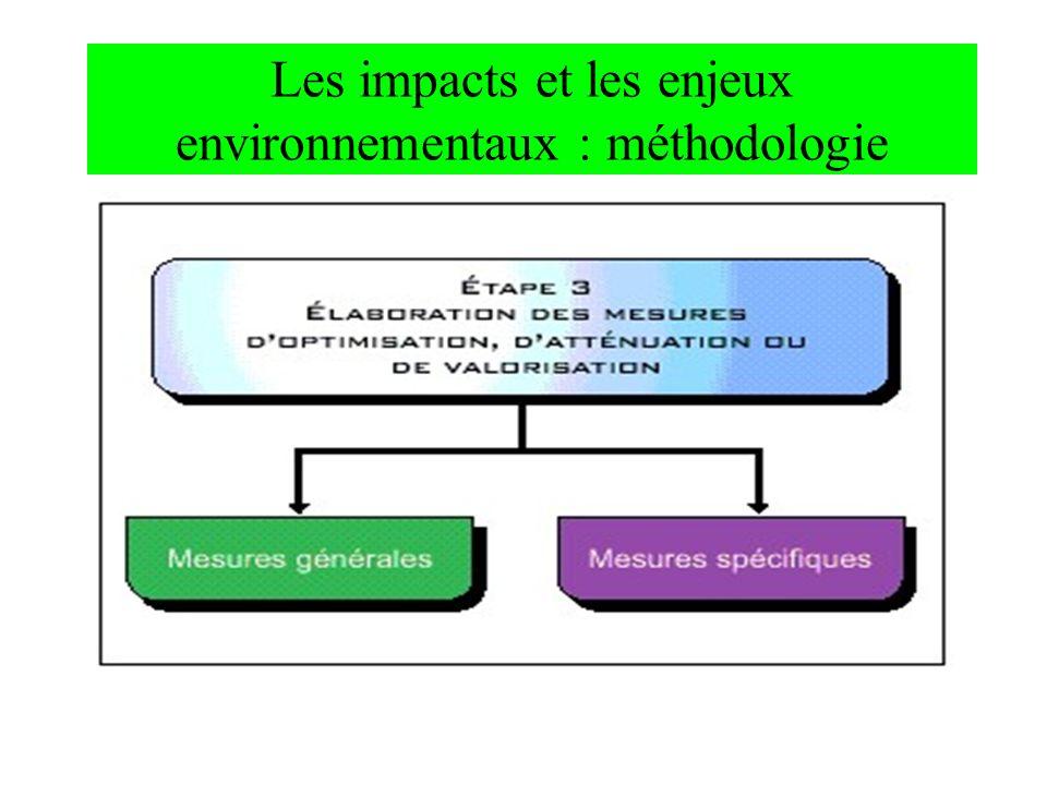Les impacts et les enjeux environnementaux : méthodologie