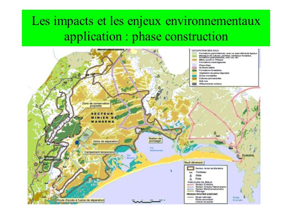 Les impacts et les enjeux environnementaux application : phase construction