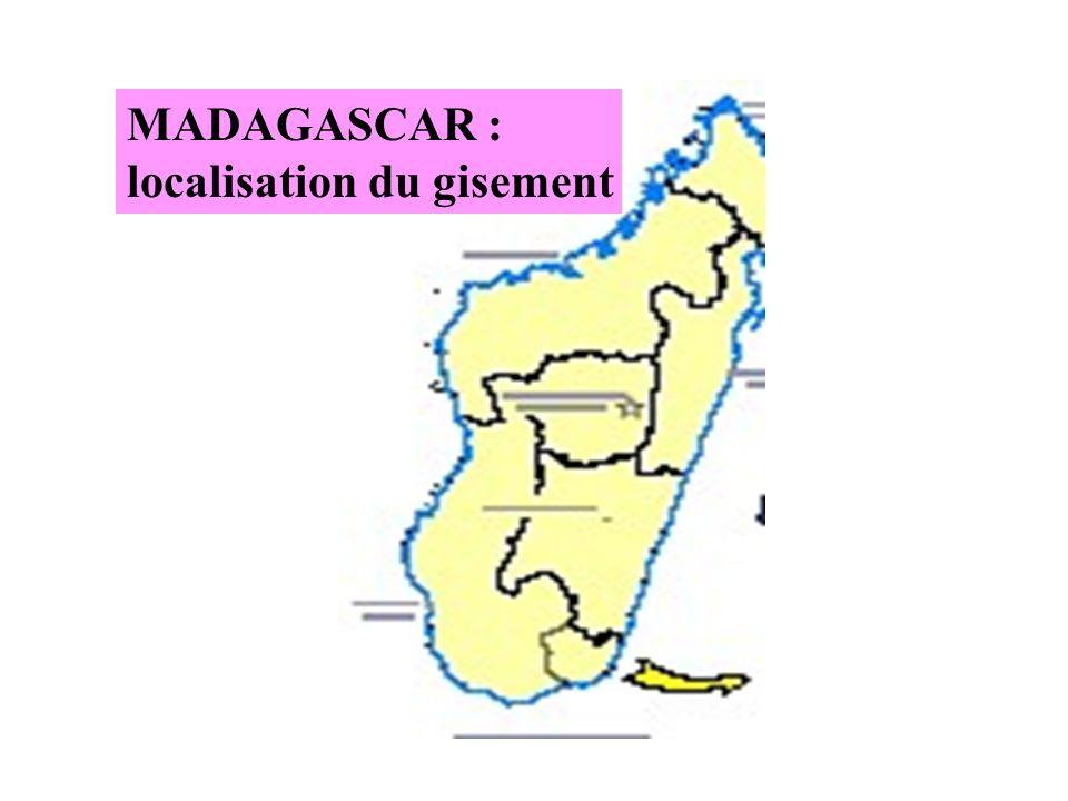 MADAGASCAR : localisation du gisement