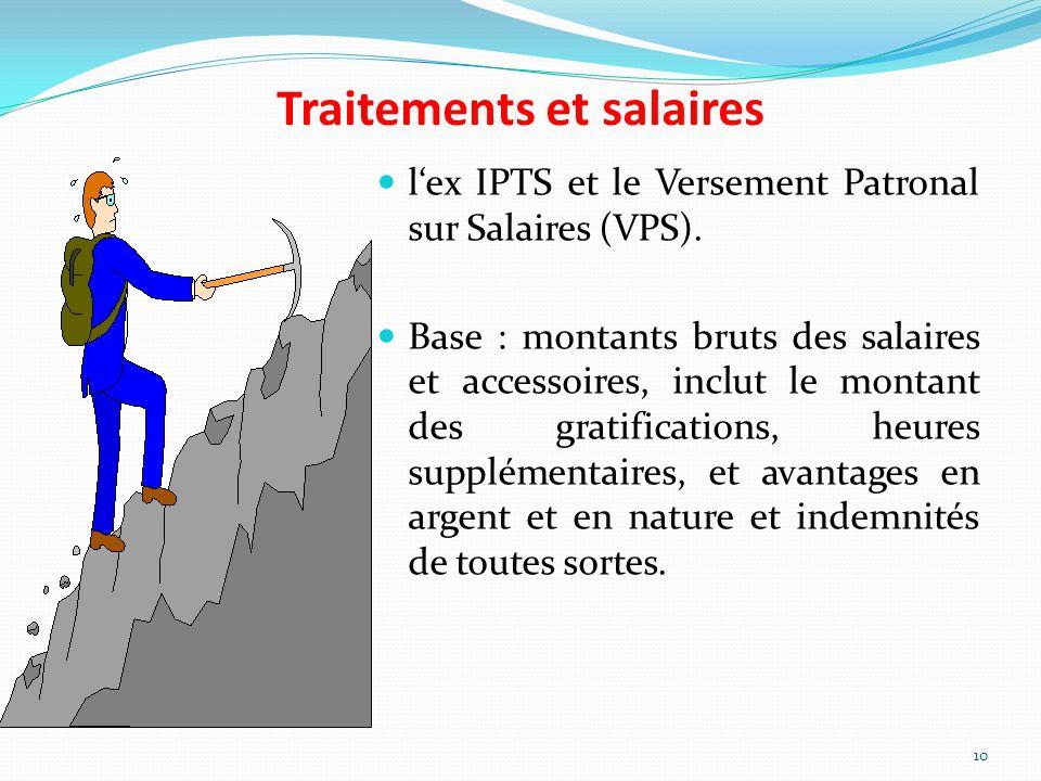 Traitements et salaires