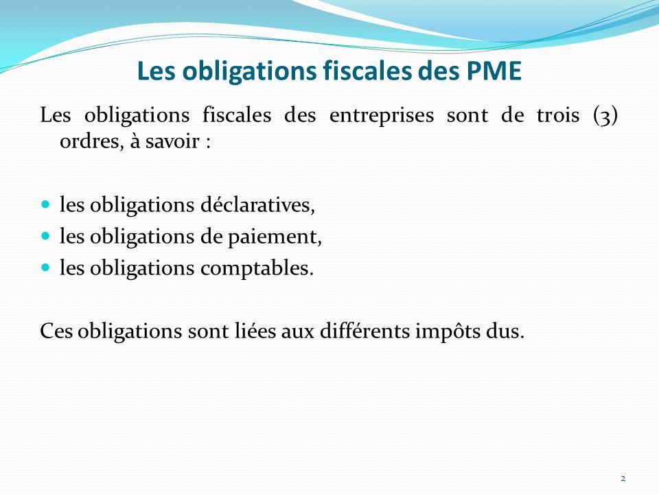 Les obligations fiscales des PME