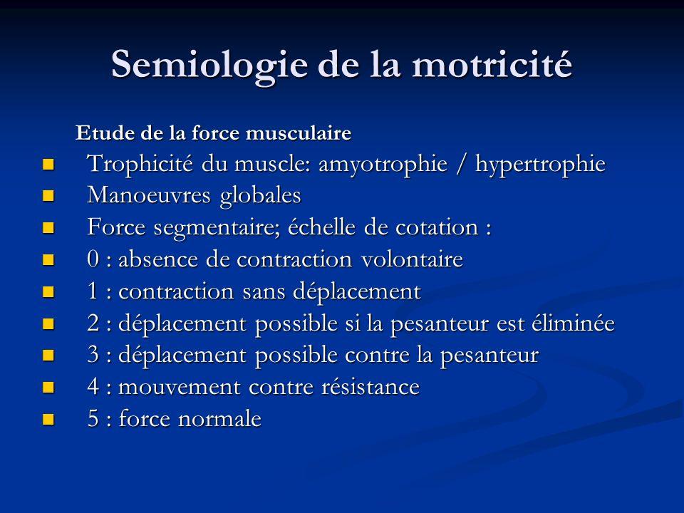 Semiologie de la motricité