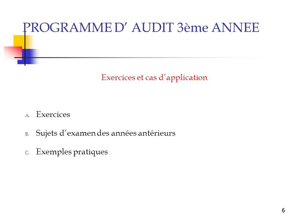 Exercices et cas d'application