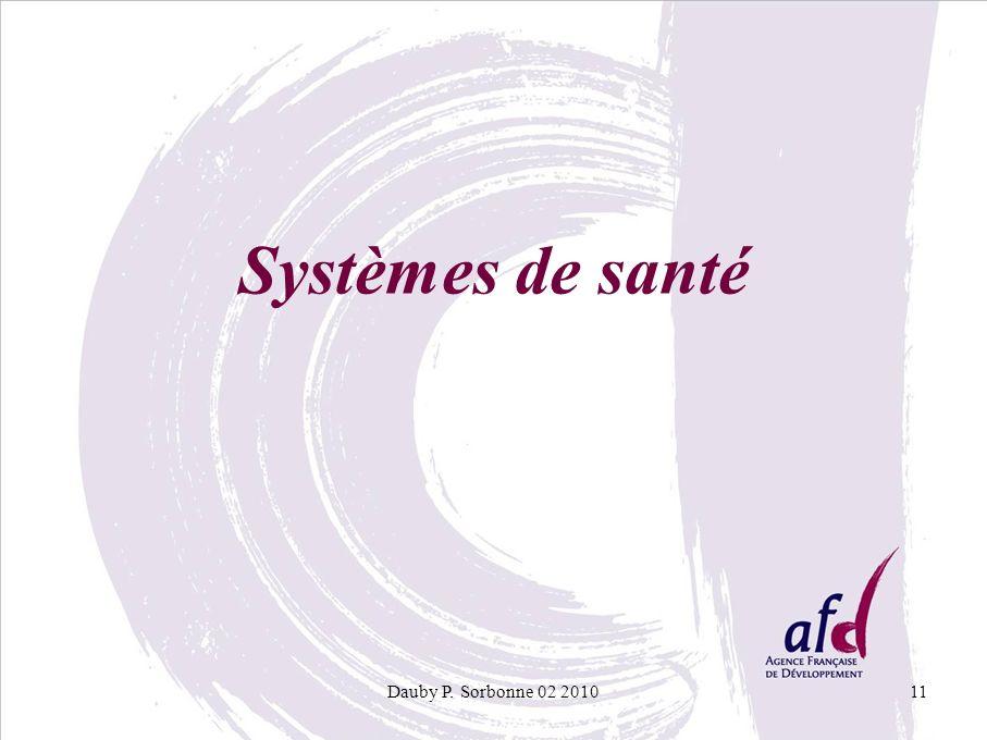 Systèmes de santé Dauby P. Sorbonne 02 2010