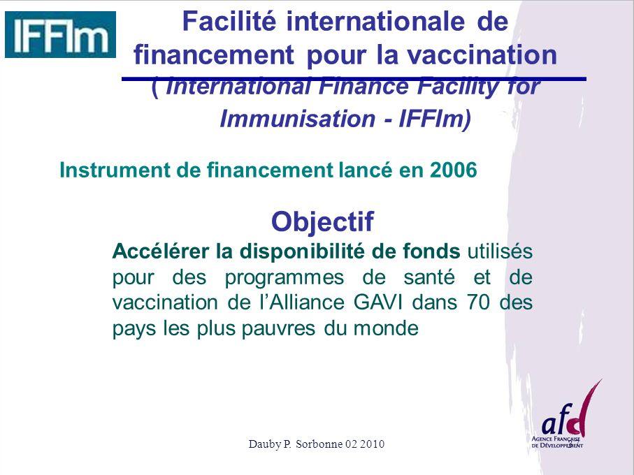 Facilité internationale de financement pour la vaccination Objectif