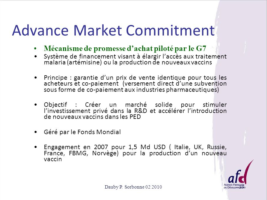 Advance Market Commitment