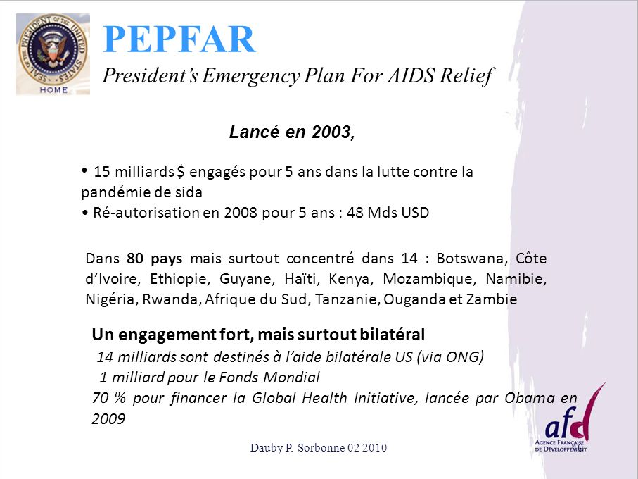 PEPFAR President's Emergency Plan For AIDS Relief