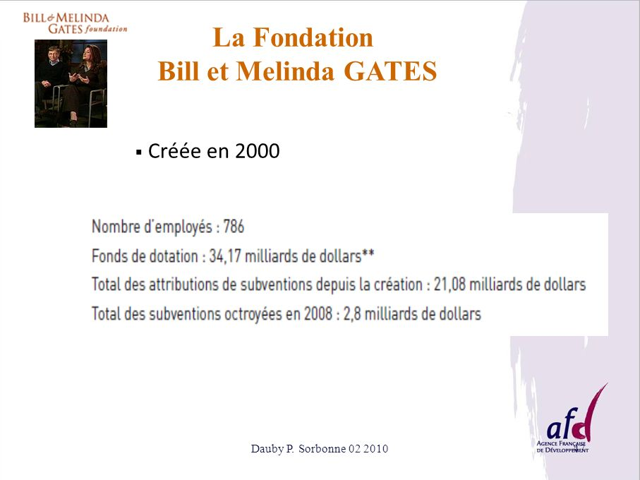La Fondation Bill et Melinda GATES