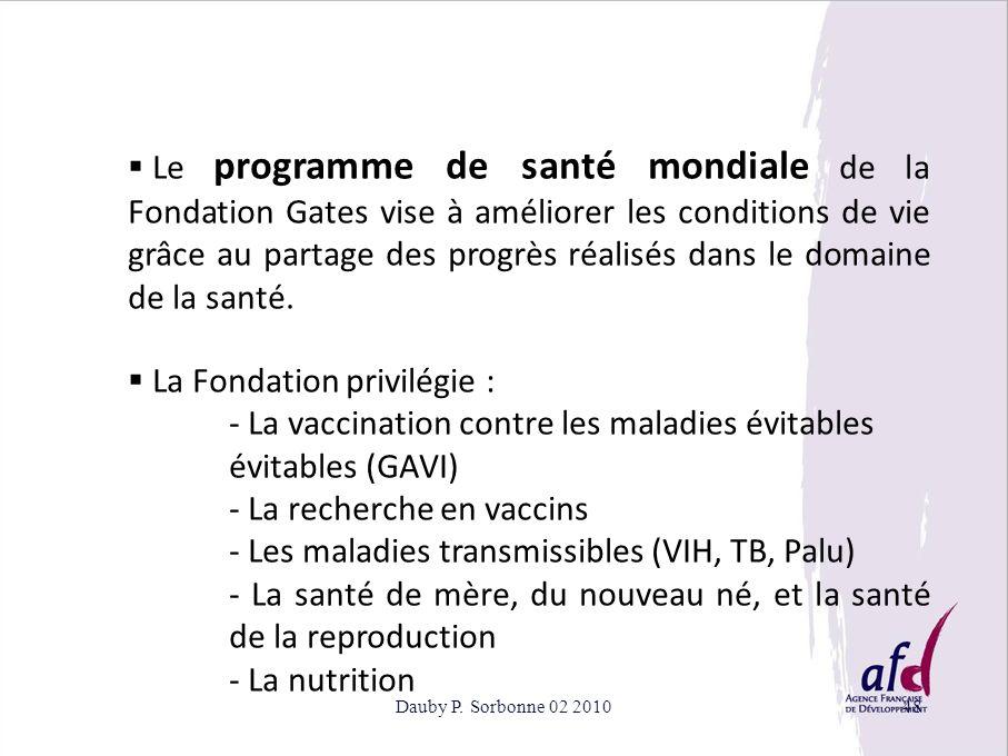 - La vaccination contre les maladies évitables évitables (GAVI)