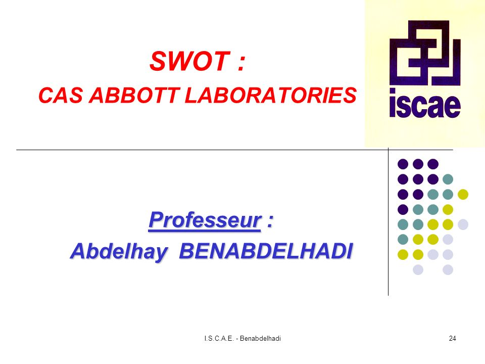 SWOT : CAS ABBOTT LABORATORIES