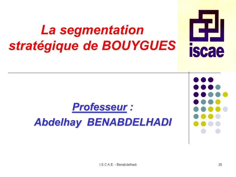 La segmentation stratégique de BOUYGUES