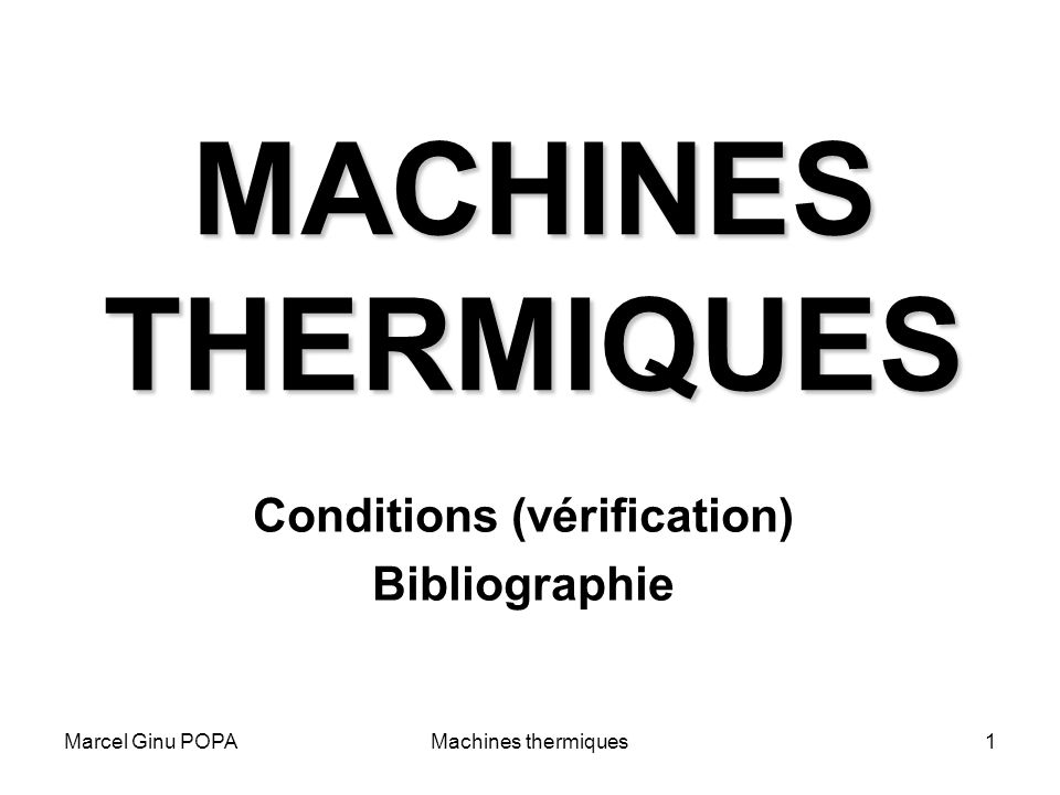 Conditions (vérification) Bibliographie