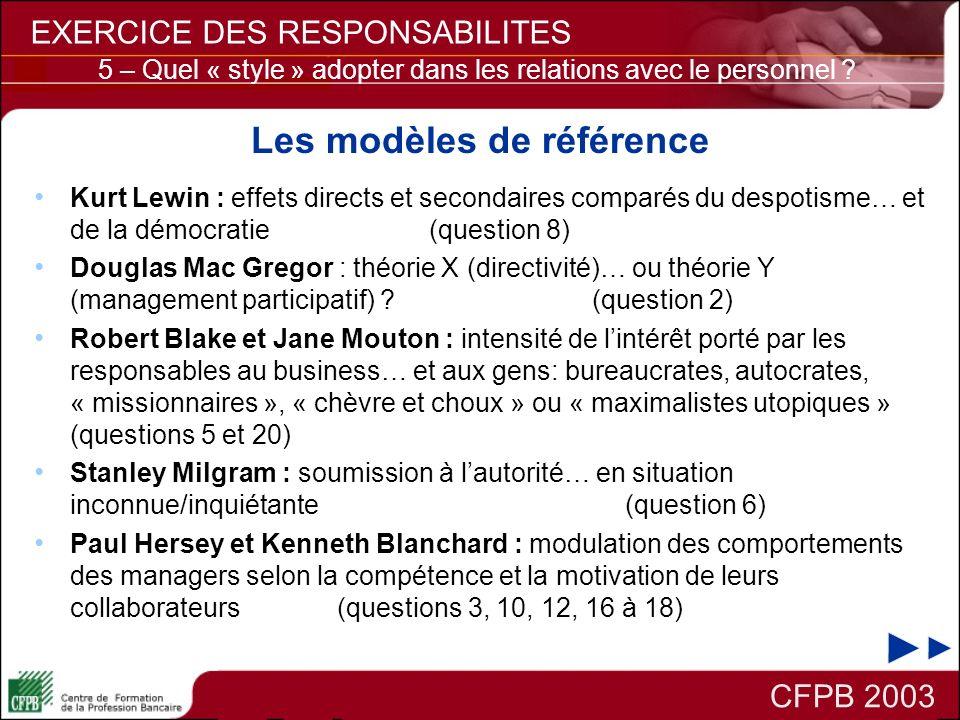Les modèles de référence