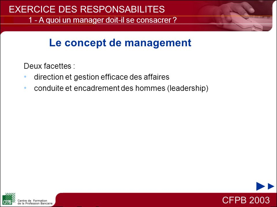 Le concept de management