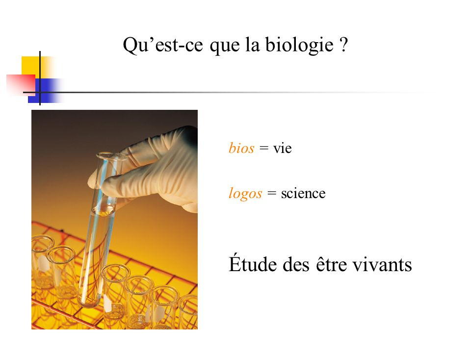 Qu'est-ce que la biologie