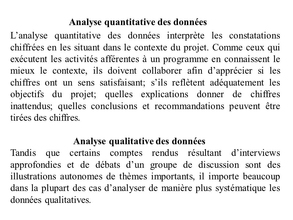 Analyse quantitative des données