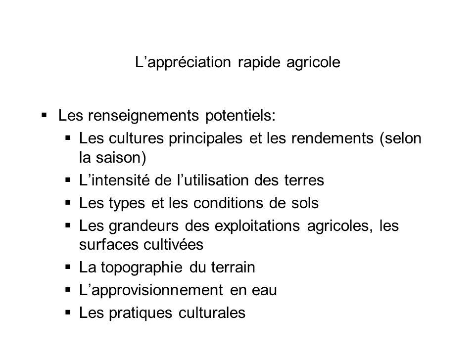 L'appréciation rapide agricole