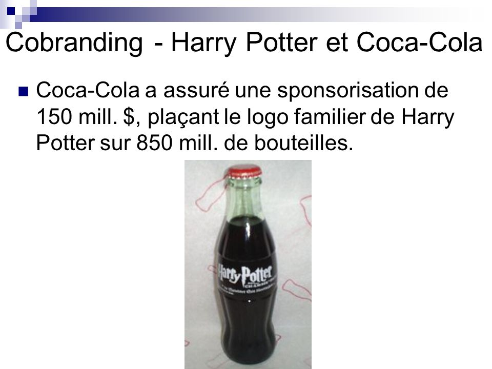 Cobranding - Harry Potter et Coca-Cola