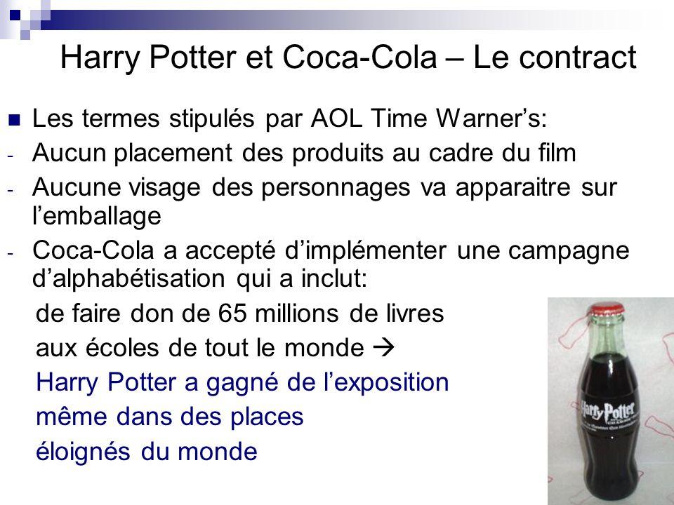 Harry Potter et Coca-Cola – Le contract