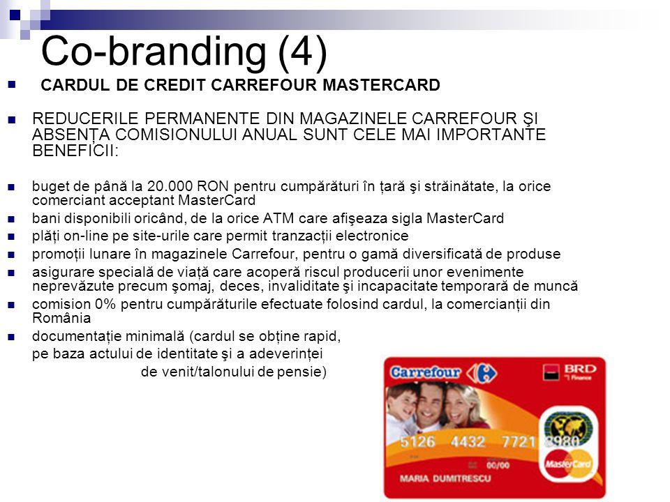 Co-branding (4) CARDUL DE CREDIT CARREFOUR MASTERCARD