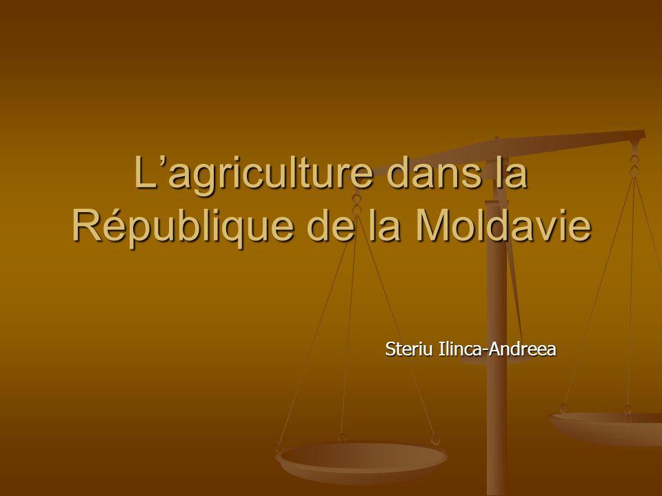 L'agriculture dans la République de la Moldavie